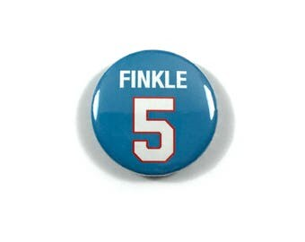 Finkle 5 Jersey Ace Ventura: Pet Detective Jim Carrey Movie Quotes Fan Art - 1 or 1.25 Inch Pinback Button Patch Pin Badge