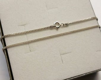 45 cm / 2 mm curb chain 925 Silver necklace HK317
