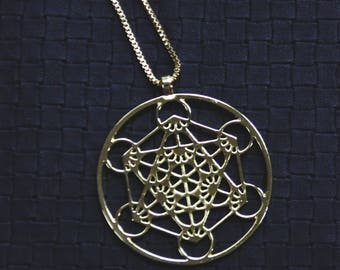 Metatron Bronze Chain - Sacred Geometry - Tribal - Ethnic - Boho - Gypsy - Yoga - Zen - Crop Circle - Power - Festivals - Trance - Burners
