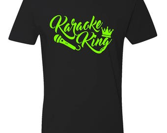 Karaoke Shirt, Karaoke King Shirt, Karaoke King, Mens Karaoke Shirt, Karaoke Singer Shirt, Karaoke Shirt for Men, Gift for Him, Singer Shirt