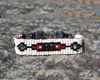 Beaded Bracelet Women,Hand Loomed Bracelet,Bracelet Handloomed,Gift for Her,Seed Beads,Sundance Style,Beaded Bracelet