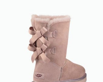 Ugg Boots Bailey Bow II - customized with SWAROVSKI® Xirius Rose-Cut Crystals.