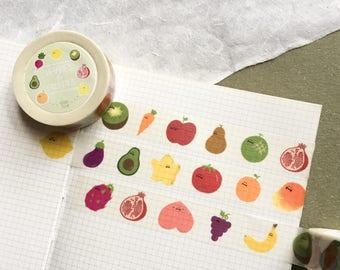 Veggies & Fruities Washi Tape