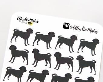 Black Labrador Dog Decorative Stickers