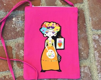 Frida Morralito, Bolsa, Shoulder Bag, Mini Cross Body Bag- Pink