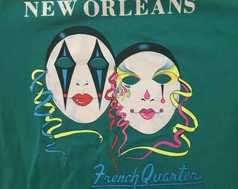 Vintage 90s New Orleans French Quarter Tshirt - Vintage 50-50 Tshirt - Large * Made In USA