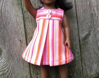 """6"""" mini doll  striped play dress"""