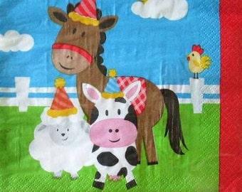 Farmhouse Fun Luncheon Paper Napkins 20ct