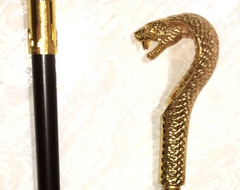 "Cobra Snake Dagger Sword Cane 36 1/4"" Long total length of Cane"