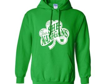 Down for Shenanigans Hoodie - St Patty's Day - St Patricks day shirt - Irish Shirt - Clover shirt - Shamrock shirt - irish gifts - Ireland