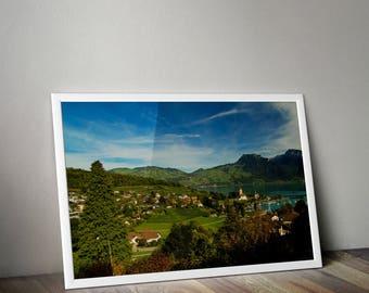 Spiez, Spiez Switzerland, Spiez Print, Hilltop, Travel Photography, Europe Photography, Switzerland Photography, Swiss, Europe Photo, Art