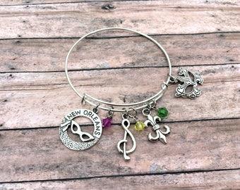 Mardi Gras Bracelet - Mardi Gras Jewelry - Mardi Gras - Masquerade Jewelry - New Orleans - Mardi Gras Accessories - Masquerade Bracelet