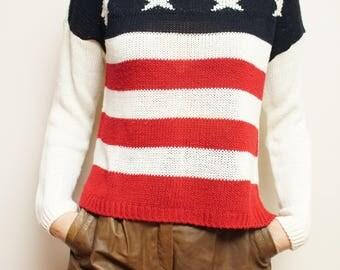 Handmade Amercian Sweater Blouse Eu 36