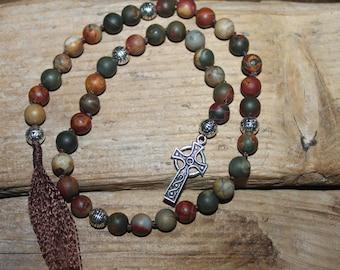 Pagan Prayer Beads-Celtic Cross