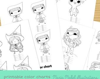 5 práctica de imprimir las cartas de COLOR-colorante