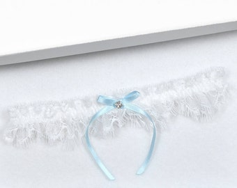 White Wedding Garter, Bridal Garter, Wedding Garter, Blue Wedding Garter, Blue Garter, White Garter, Garter, Blue Garter, Toss Garter