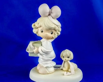 Tied Up For The Holidays Precious Moments Figurine