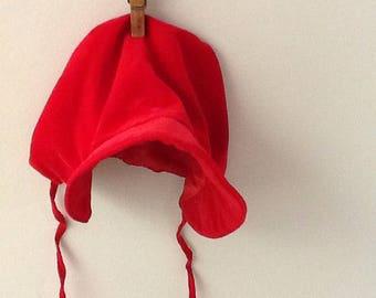 2T Red Corduroy Bonnet