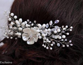 Hair comb Bridal hair accessories Wedding hair comb Rustic wedding hair pin Bridal hair piece Wedding headpiece Bridal hair clip Spring comb