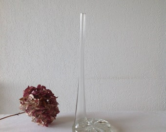 Art deco, original vase, Tubular vase soliflore vase for one flower vase for a flower, glass vase, tubular vase.