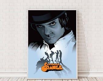 A Clockwork Orange Poster Art Film Poster Classic Movie Poster