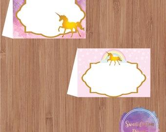 Unicorns Place Cards, Unicorns Food Labels, Unicorns Tent Cards, Unicorns Birthday, Unicorns Party, Unicorns Party Décor,INSTANT DOWNLOAD