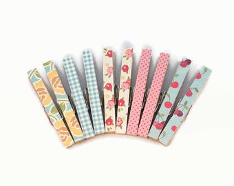 Magnetic Clothespins, Decorative Clothespins, Office Organization, Floral Clips, Bag Clips, Photo Holder, Place Card Holders, Office Decor