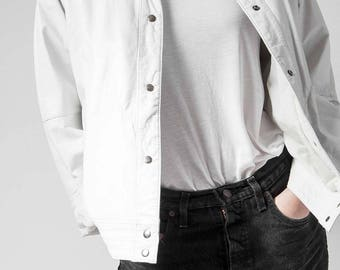 The vintage leather bomber jacket Size 36/38