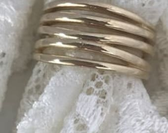 14K Yellow Gold Wide Band