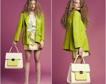 Zesty Lime 80s Blazer / Classic Cut / Size 10-12