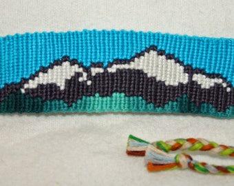 Mountain Landscape Friendship Bracelet, Bookmark or Key Chain