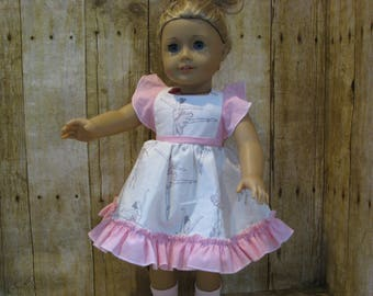 Pink Ballerina Themed Dress for American Girl and Other 18 Inch Dolls