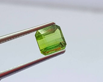 0.85 Carat Green Color Loose Gemstone Tourmaline @ Afghanistan 7*6.5*5mm (11)