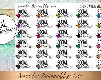 Shop Owner- Social Media Planner Stickers