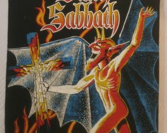 Vintage 1980's BLACK SABBATH back patch - excellent condition - very rare!!