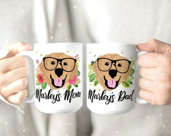 Golden Retriever Mug - Golden Retriever Mom Gift - Personalized Dog Mug - Cute Dog Mug - Dog Lover Gift - Dog Coffee Mug