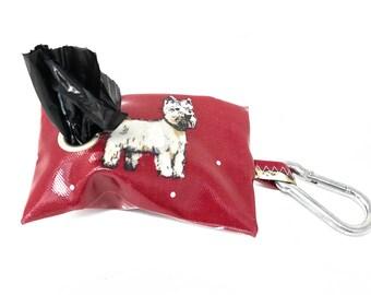 Westie Dog Poo Bag Holder – Dog Poop Bag Holder – Dog Waste Bag – Poop Bag Dispenser – Poop Bag – Dog Lover Gift – Leash Bag – Dog Bag - Dog
