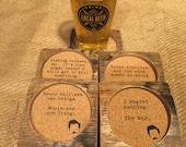 Bourbon Barrel Coasters - Ron Swanson Quotes