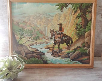 Vintage Wild West Cowboy Paint By Numbers Painting Part 91