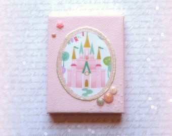 """Miniature canvas series decorative magical Princess Castle """"perfume from childhood: Enchanted my Kingdom"""""""