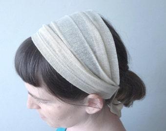 Gold headband, Gold turban adult, Head cover, Gold headbands, Wide headband, Womens turban, Head cover headband, Womens headband