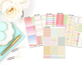 Pastel Christmas Collection-Erin Condren Vertical Planner Stickers