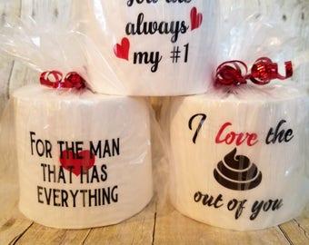 Valentine's Day Funny Toilet Paper- Toilet Paper Gag Gift-Toilet Paper Roll-Funny Toilet Paper roll-Funny Valentine's-Funny Bathroom Decor