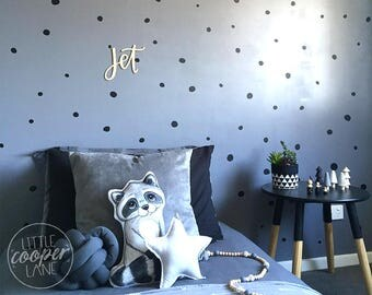 Hand Drawn Polka Dots | Modern Wall Decal Vinyl Stickers | Boys & Girls | Sets of 107 | Gold | For Nursery, Kids OR Teens Room_ID#1427