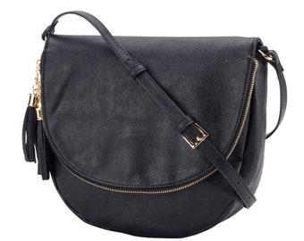 Sienna crossbody purse, black, personalized bag, crossbody purse