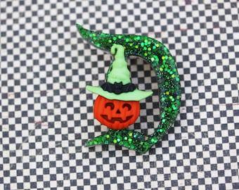 Disney D Pin - Classic Disney D Pin - Halloween Pumpkin Sparkles Disney D Brooch -  Not So Scary D Pin - Pumpkin Disney D Brooch