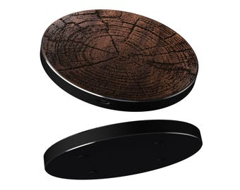 iPhone 8, 8 Plus, X Wireless Charger Wood Rings | 10W Fast Charge Charging Pad also for Samsung S8, S8 Plus | Real wood laser engraved