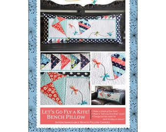 Let's Go Fly a Kite! Bench Pillow - Pattern - by Kimberbell - Interchangeable Covers and Bench Pillow - C
