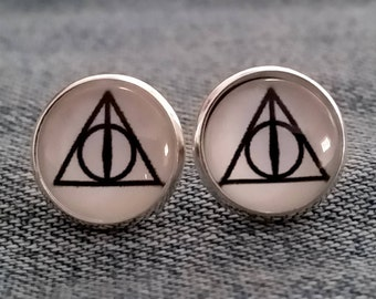 Harry Potter Earrings- Stud or French Wire, Silver or Bronze