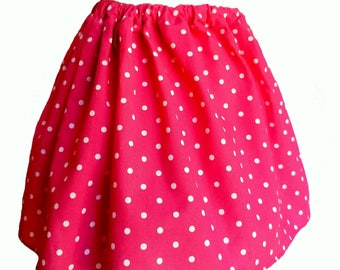 Custom Fit-ADJUSTABLE Pink Polka Dot Girls Skirt-3,6,9,12,18,24mo,3T-Baby/Toddler/Girl Minnie Mouse Skirt-Disney Skirt-Grow With Me-Boutique